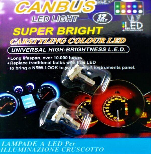 Τ10 LED ΛΑΜΠΑ (ΨΕΙΡΑ ΜΙΝΙ ΟΡΓΑΝΩΝ) CANBUS ΣΕΤ 2/ΤΕΜ