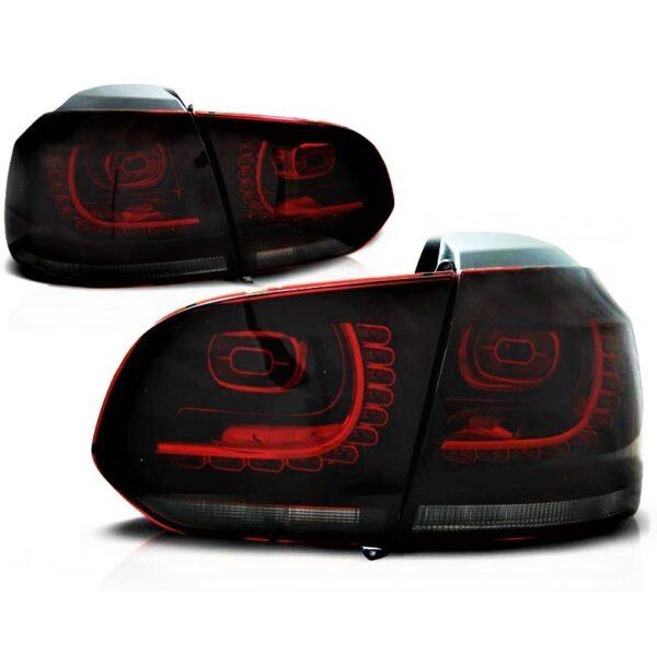 ΦΑΝΑΡΙΑ ΟΠΙΣΘΙΑ VW GOLF VI R20 GTI COLOR RED SMOKE