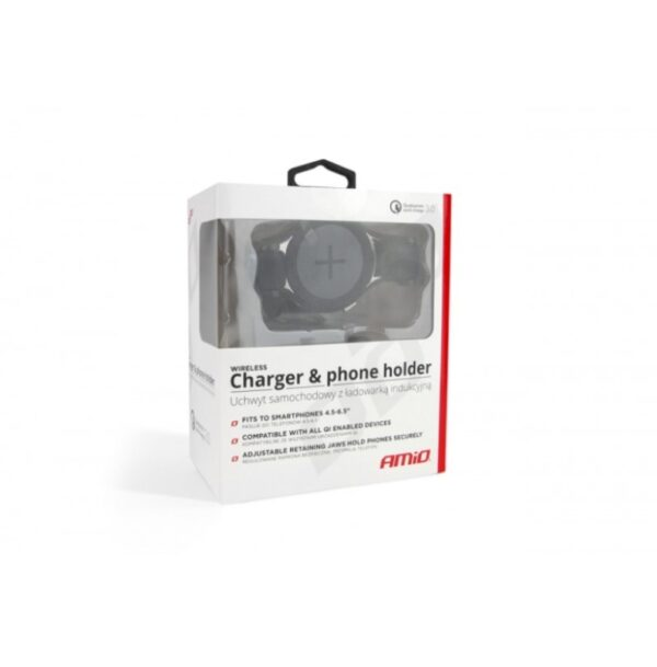 ΒΑΣΗ ΚΙΝΗΤΟΥ ΑΥΤΟΚΙΝΗΤΟΥ Με Wireless Charger Combo Qualcomm 3.0 Amio PHW-03